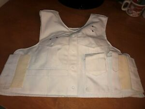 Point Blank Female Body Armor with Outer White Vest Carrier LG R 1111