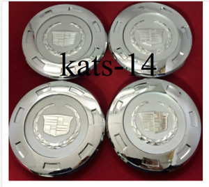 4X CC25 9596649 07 14 Cadillac Escalade Chrome Crest 22 w 8 Wheel CENTER CAP