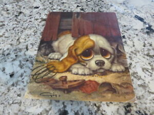 Vintage Gig. PITY PUPPY  Lithograph  No 321.       11