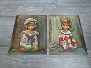 2. Vintage  Eden Lithographs. SAILOR GIRLPIERETTE   11