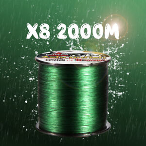 8 Strand Braided Fishing Line Multifilament Braided 2000m Strong Braided PE Line