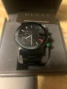 Gucci G-Chrono PVD Steel Black Sticks Dial Quartz Men Luminescent Watch YA101331