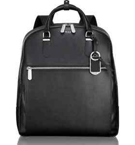 NEW TUMI STANTON ORION BACKPACK BLACK LEATHER $595