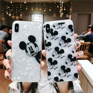 Cute For iPhone 11 Pro XS Max XR X 8 Shell Mickey Mouse Case Disney Armor Cover