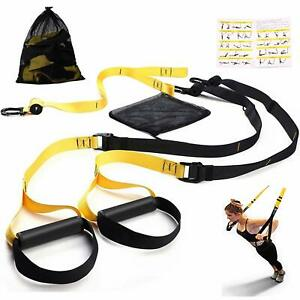 Bodyweight Fitness Resistance Suspension Trainer Kit. Outdoor Workouts w. Anchor