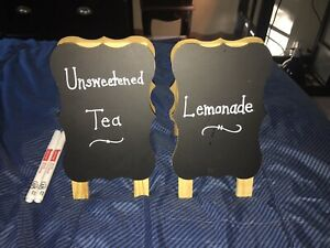Mini Chalkboard Signs With Paint Pens Set Of 2