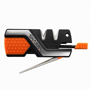 6 In 1 Knife Sharpener with Fire Starter Whistle and Diamond Sharpening Rod