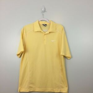 Nike Golf Men's Polo Shirt Size M Yellow Dry Fit Casual