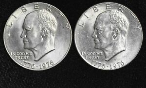$1 One Dollar 1976 P D Ike Eisenhower UNC BU Copper Nickel Lustrous Bicentennial