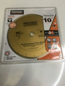 RIDGID Tile Blade 10 High Grade Diamond Cutting Porcelain Ceramic Marble Gold