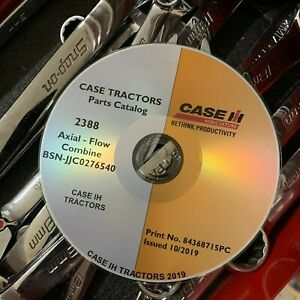 CASE IH 2388 AXIAL FLOW COMBINE BSN JJC0276540 AND UNDER PARTS CATALOG LIST $39.95