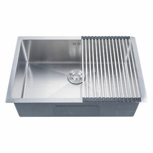 18 Gauge Undermount Stainless Steel Kitchen Sink Single Bowl 9