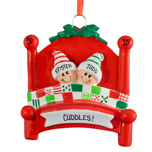 Bed Heads Family 2 3 4 5 6 7 8 9 10 Personalized Christmas Ornament