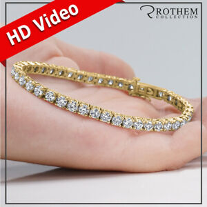 Womens Birthday Gift 8.30 CT K VVS2 Diamond Tennis Bracelet 14K Yellow Gold 397