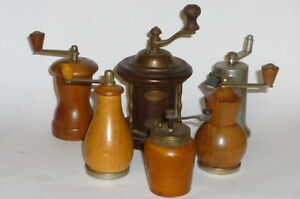 6 Old Pepper Nutmeg Grater Mill Mill Spice Mill Hand Grinder Spice Mill