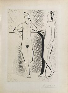 Pablo Picasso Figures Lithograph Signed by the Plate Great Bargain!