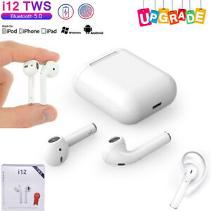 i12 Wireless Headphones Earbuds For iPhone & Android Bluetooth 5.0