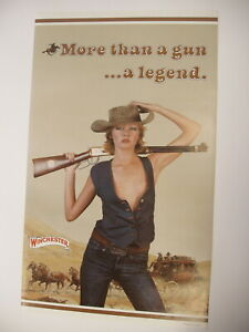 Vintage Orig Winchester Girl More than a Gun a Legend Paper Poster Advertisement