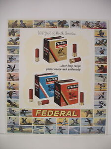 VINTAGE Original Federal Cartridge Corp Shot Shell Wildfowl Advertising Sign