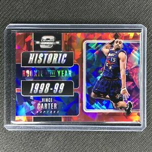 2018-19 Contenders Optic VINCE CARTER Historic Rookie Ticket Cracked Ice Red #7