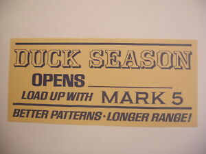 VINTAGE Winchester Mark 5 Duck season opens Paper Poster Advertising Sign