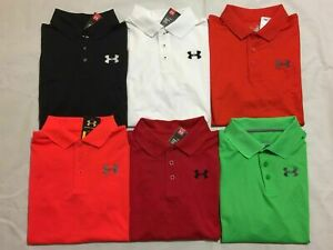 NEW UNDER ARMOUR YOUTH BOY'S HEAT GEAR GOLF LOOSE FIT POLO SHIRTS $25.49