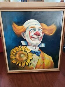 My Friend the Happy Clown - Oil on Canvas