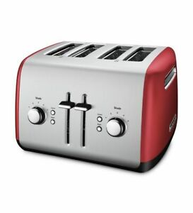 KitchenAid Refurbished 4 Slice Toaster with Manual High Lift Lever RKMT4115 $55.99