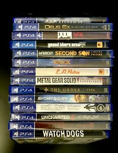 PS4 Games Lot 26 New & Used