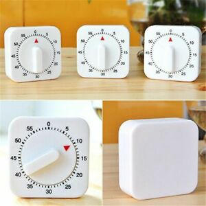 Mechanical Timer Reminder Stocked Plastic 60 Minutes Square Counting Machines