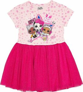 L.O.L. Surprise Girls#x27; Tutu Dress with Tulle Skirt