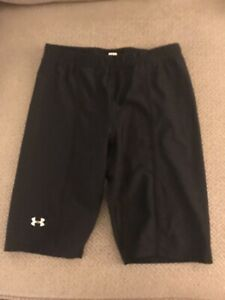 Mens Under Armour Running Compression Shorts Black Small S