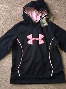Under Armour Womens Size Large Hoodie UA Storm Caliber RealTree Camo Pink Black
