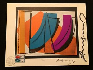ANDY WARHOL UNITED NATIONS LIMITED EDITION SIGNED LITHOGRAPH 1979 WITH ENVELOPE