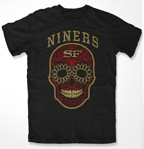 "SAN FRANCISCO 49ers   "" FAITHFUL "" 2019 SUGA SKULL TAILGATE T SHIRT"""
