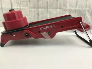 Kitchen HQ All in 1 V Blade Adjustable Mandoline Slicer Mandolin RED