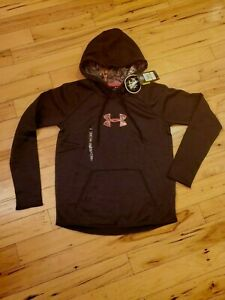Under Armour Womens ColdGear Hoodie Caliber Realtree Pink Camo Storm~Small NWT