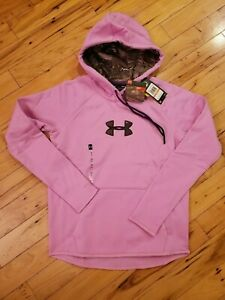 Under Armour Women Storm Caliber Camo Logo Loose Hoodie Pink - SIZE S ~ NWT