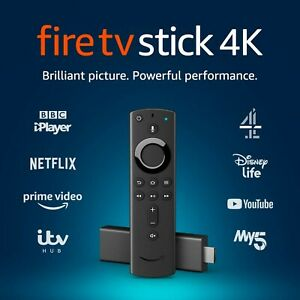 Amazon Fire TV Stick 4K Ultra HD with Alexa Voice Remote streaming media pl