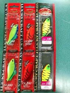 Lucky Craft LV-100 Lipless Crankbait Lure Chartreuse Tiger Craw Japan Only?