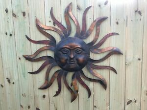 METAL SUN WALL SCULPTURE Decor 37