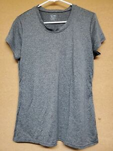 Women's Champion Gray Fitness Top Loose Ample Athletic Running Shirt Size Large $10.00