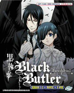 Black Butler Kuroshitsuji (Season 1 -3 +Moive + 9 OVA ) DVD with English Audio