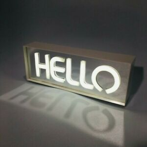 "NEW LockerMate Battery Powered Neon Light ""HELLO"" for Locker and Room Decor"