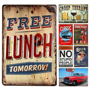 Retro Vintage Metal Tin Sign Wall Poster Plaque Bar Pub Cafe Home Plate Decor