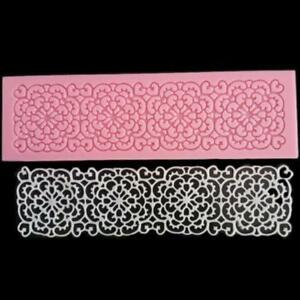 Silicone Lace Shaped Mold Sugar Craft Embossing Mould Fondant Cake Tools O3