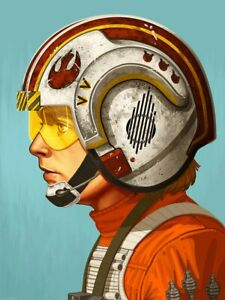 RED FIVE - Giclee by MIKE MITCHELL - xxxx2120 - STAR WARS - LUKE - PORTRAIT