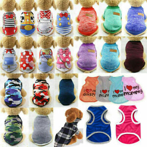 Cute Camouflage Dog Clothes Vest For Small Dog Pet Puppy Summer T Shirts Apparel