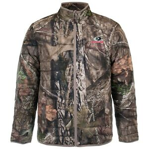 MOSSY OAK MENS INSULATED CAMO JACKET BREAKUP or MOUNTAIN COUNTRY ZIP FRONT $28.99