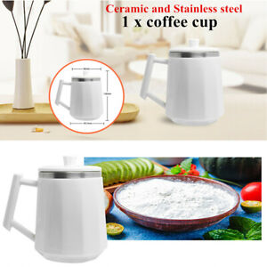 Self Stirring Coffee Cup Ceramic amp; Stainless Mixer Drinking Cup Hotel Shop Home $39.19